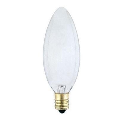 Westinghouse Incandescent Light Bulb 60 Watts 590 Lumens 2700 K Torpedo B10 Candelabra Base E12