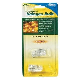 Westek Halogen Light Bulb 20 watts Tubular JCD GY8 Clear 2 pk