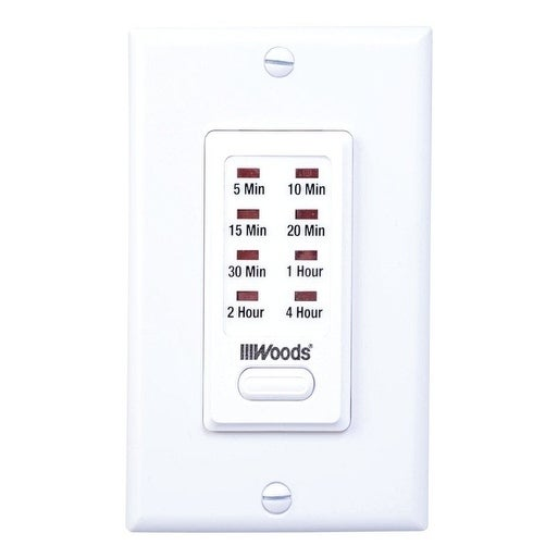 Woods Indoor In Wall Countdown Timer White (Metal)