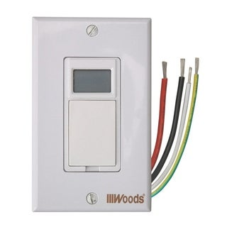 Woods Indoor 7 Day Programmable Timer 15 amps 120 volts Almond