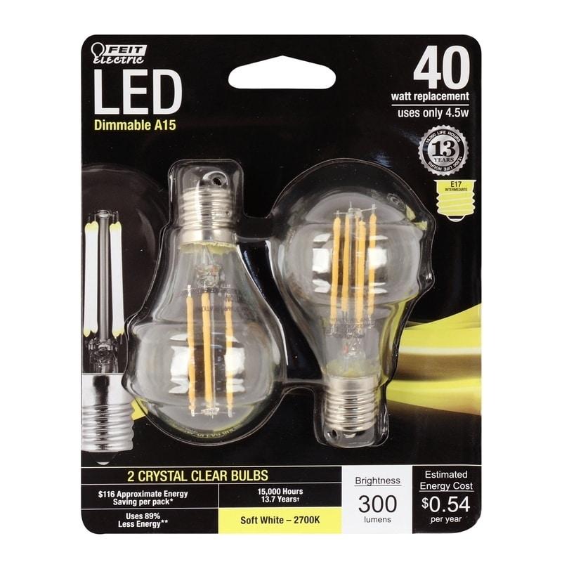 FEIT Electric Performance LED Bulb 4.5 watts 300 lumens 2...