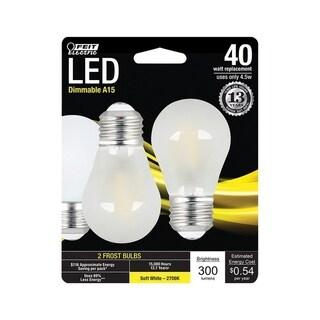 FEIT Electric LED Bulb 4.5 watts 300 lumens 2700 K A-Line A15 Soft White 40 watts equivalency