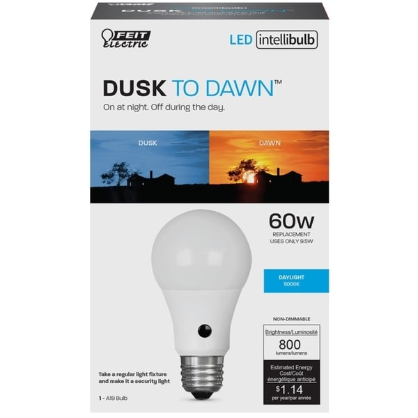 Shop Feit Electric Intellibulb Led Dusk To Dawn Light Bulb