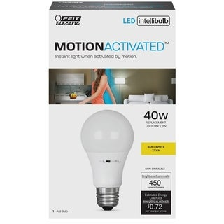 FEIT Electric Intellibulb LED Motion Sensing Light Bulb 6 watts 450 lumens 2700 K Appliance A19