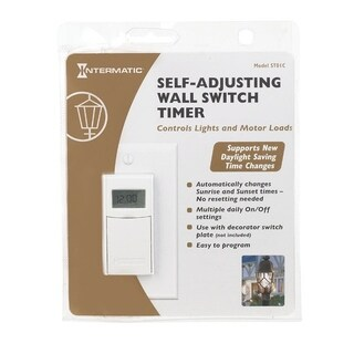Intermatic Indoor Digital In Wall Timer 15 amps 120 volts White