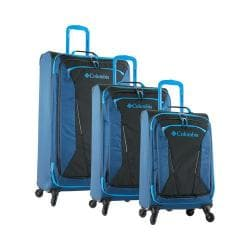 Columbia Kiger 3 Piece Spinner Luggage Set Coal/Night Tide Blue
