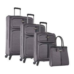 Nine West An Adventure 4-Piece Luggage Set Grey/Black