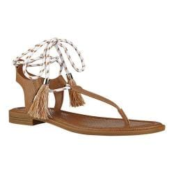 Women's Nine West Gannon Thong Sandal Dark Natural Synthetic