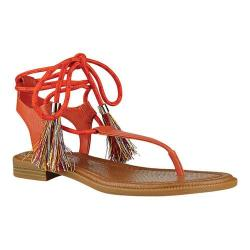 Women's Nine West Gannon Thong Sandal Orange Synthetic