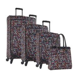Nine West Packmeup 4-Piece Luggage Set Black Multi