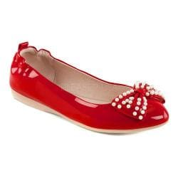 Women's Pin Up Ivy 09 Foldable Flat Red Patent