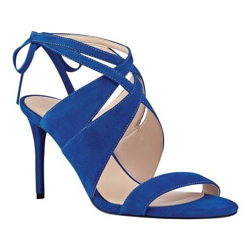 9b514ac0916 Shop Women s Nine West Ronnie Dress Sandal Blue Suede - Free Shipping Today  - Overstock - 15320097