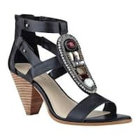 Women's Nine West Reese Gladiator Sandal Black Leather