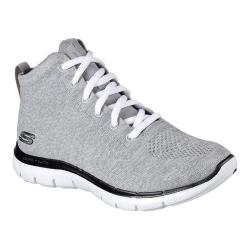 Women's Skechers Flex Appeal 2.0 In Code High Top Light Gray/Black