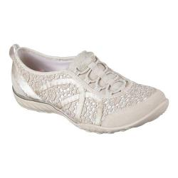 Women's Skechers Relaxed Fit Breathe Easy Sweet Darling Sneaker Natural/Silver