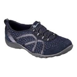 Women's Skechers Relaxed Fit Breathe Easy Sweet Darling Sneaker NavySilver | Shopping The Best Deals on Sneakers