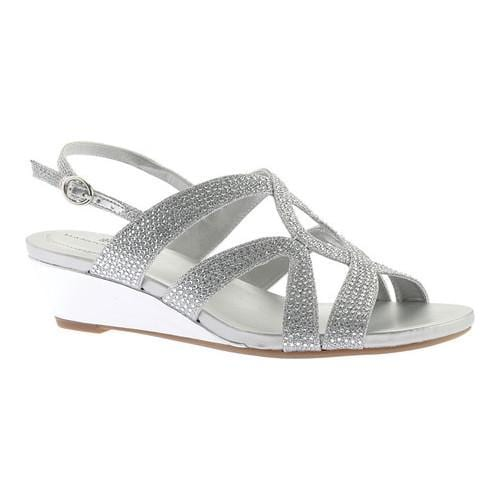 Women's Bandolino Gomeisa Wedge Slingback Silver Glamour Fabric - Free  Shipping On Orders Over $45 - Overstock.com - 21759060