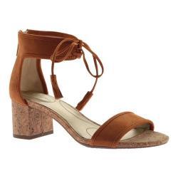 Women's Bandolino Semise Ankle Strap Sandal Cognac/Cognac Fabric