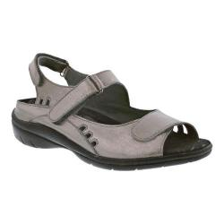 Women's Drew Tide Hook and Loop Sandal Pewter Leather