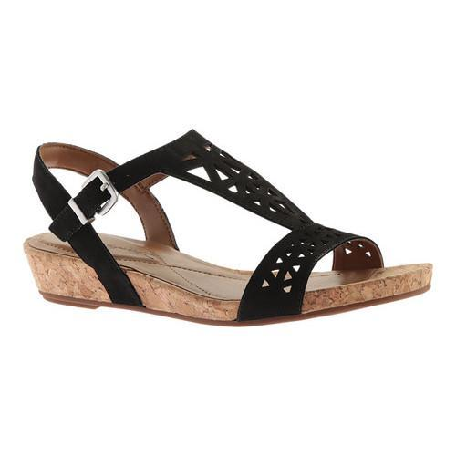 fcb4fbf92c3 Shop Women s Easy Spirit Nyleen Wedge Slingback Black Nubuck - Free  Shipping On Orders Over  45 - Overstock - 15291079