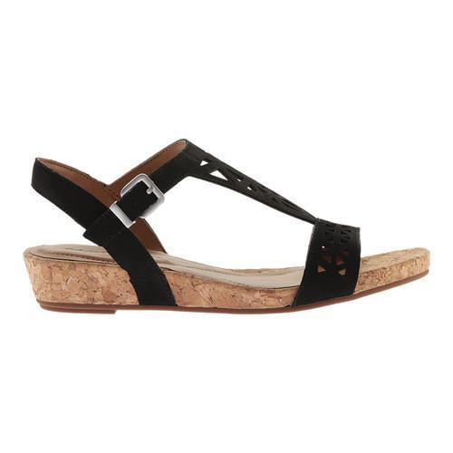 b1699fd7910 Shop Women s Easy Spirit Nyleen Wedge Slingback Black Nubuck - Free ...