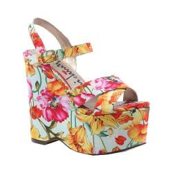 Women's Luichiny In Her Shoes Wedge Pink Floral Fabric