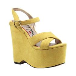 Women's Luichiny In Her Shoes Wedge Yellow Imi Suede