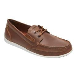 Men's Rockport Bennett Lane 4 Boat Shoe Cognac Leather