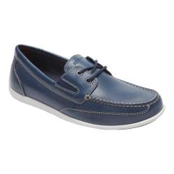 Men's Rockport Bennett Lane 4 Boat Shoe New Dress Blue Leather