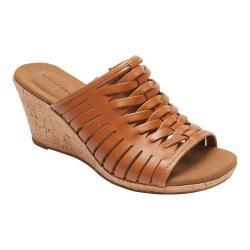 Women's Rockport Briah Fisherman Sandal Sun Tan Full Grain Leather