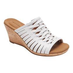 Women's Rockport Briah Fisherman Sandal White Full Grain Leather