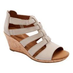 Women's Rockport Briah Gladiator Sandal New Taupe Nubuck - Thumbnail 0