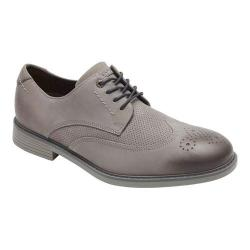 Men's Rockport Classic Break Perfed Wingtip Oxford Timber Leather/Suede
