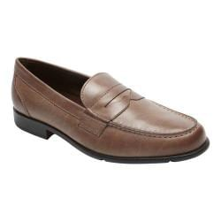 Men's Rockport Classic Loafer Lite Penny Mid Brown Leather