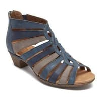 Women's Rockport Cobb Hill Abbott Gladiator Sandal Blue Multi Nubuck