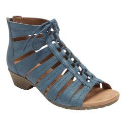 Women's Rockport Cobb Hill Gabby Gladiator Bootie Blue Nubuck
