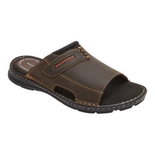 Men's Rockport Darwyn 2 Slide Brown II Leather
