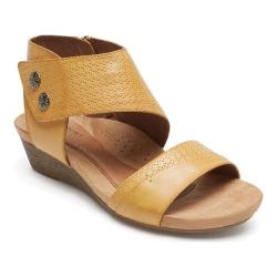 Women's Rockport Cobb Hill Hollywood 2 Piece Cuff Sandal Amber Leather