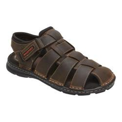 Men's Rockport Darwyn Fishermen Sandal Brown II Leather