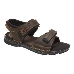 Men's Rockport Darwyn Quarter Strap Sandal Brown II Leather
