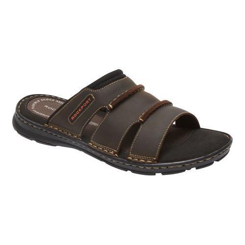 Men's Rockport Darwyn Slide Brown II Leather