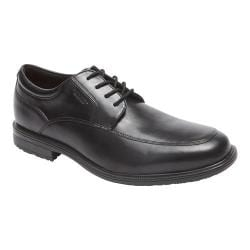 Men's Rockport Essential Details II Apron Toe Oxford Black Leather