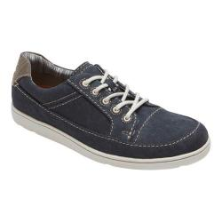 Men's Rockport Gryffen Lace Up Sneaker Black Canvas