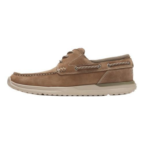 Men's Rockport Langdon 3 Eye Oxford Taupe Nubuck - Thumbnail 2