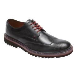 Men's Rockport Jaxson Wing Tip Oxford Black Leather