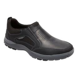 Men's Rockport Kingstin Slip On Black Leather/Synthetic
