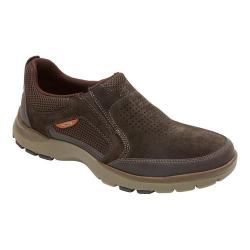 Men's Rockport Kingstin Slip On Brown Leather/Synthetic