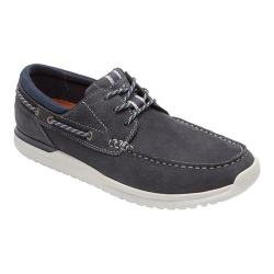 Men's Rockport Langdon 3 Eye Oxford Steel Blue Nubuck