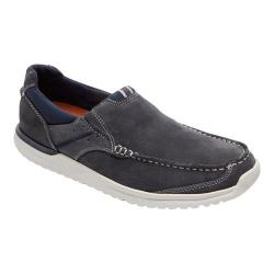 Men's Rockport Langdon Slip On Steel Blue Leather