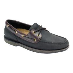 Men's Rockport Perth Loafer Black/Bark Leather